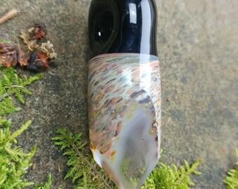 Faceted Quartz themed Glass pendant