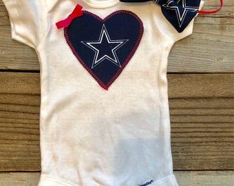 Dallas cowboys baby onesie, cowboys baby outfit