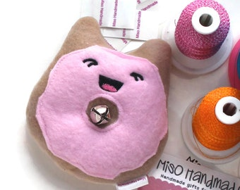 Kitty Donut | Bell Cat Toy | Catnip Candy | Cat Doughnut | Cat Toy Catnip | Gift for Cat | Kawaii | Catnip Toy | Cat Donut |