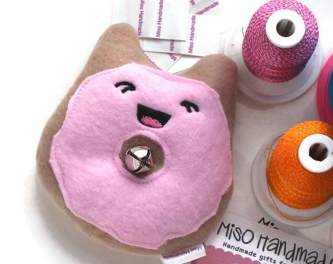 Featured listing image: Kitty Donut | Bell Cat Toys | Organic Catnip Toy | Cat Doughnut | Cat Toy Catnip | Gift for Cat | Kawaii | Catnip Toy | Cat Donut |