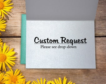 Add A Custom Request To Your Order!
