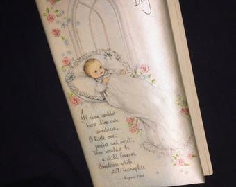 Vintage Baby's Christening Keepsake