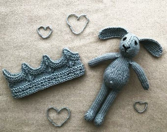 Knitted Bunny and Crown