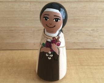 St. Therese of Lisieux Catholic Saint Peg Doll - The Little Flower