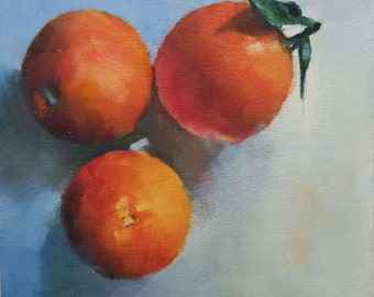Original Small oil Painting of Sicilian Oranges