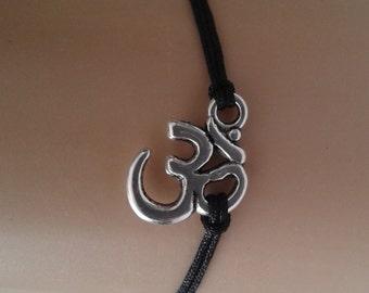 OM bracelet - om charm - mantra bracelet - yoga bracelet - yoga jewellery - spiritual - yoga jewelry - friendship bracelet - om jewellery