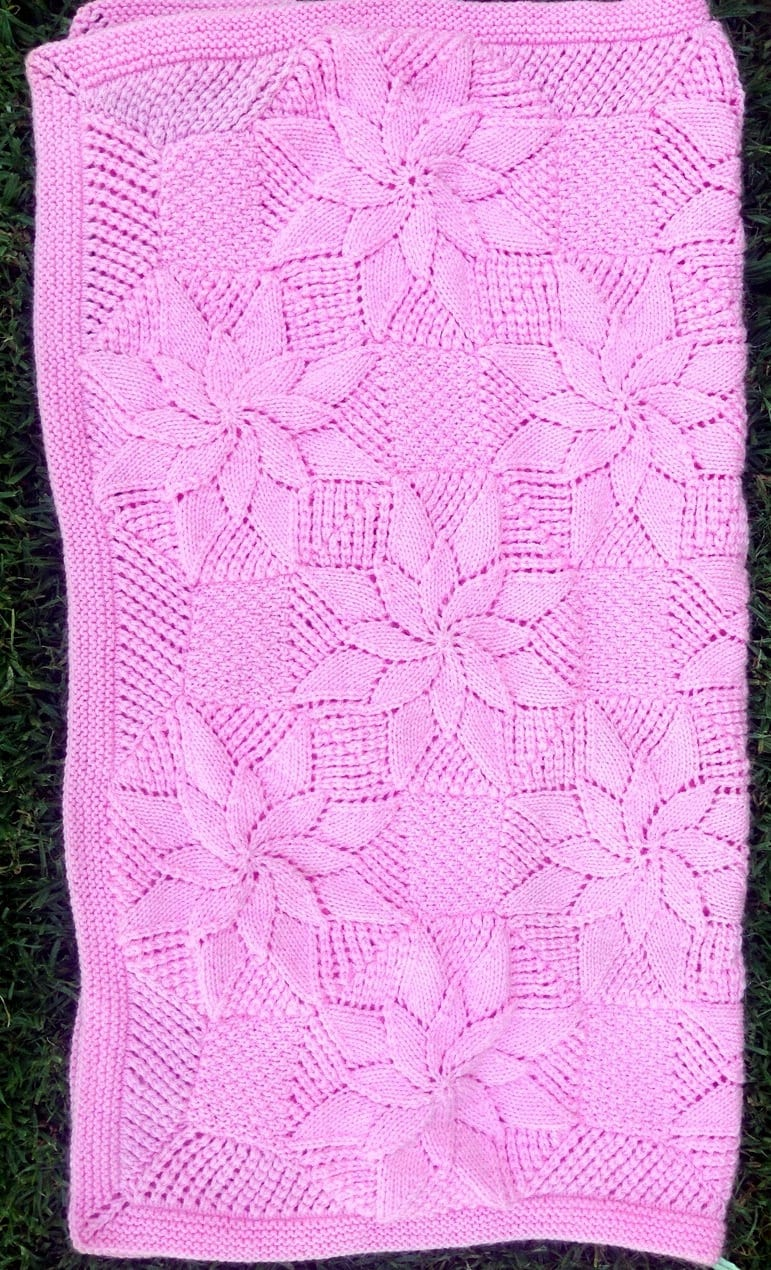 Double Star Baby Blanket Knitting Pattern - Vintage Style Baby ...