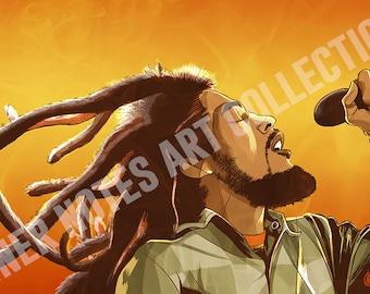 Bob Marley 11 x 17 Print