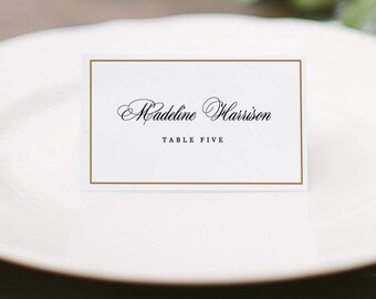 place card template word