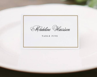 Printable Place Card Template Wedding Place Cards Editable - Wedding place card template word