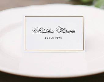 Place Card Template Etsy - Name place cards template