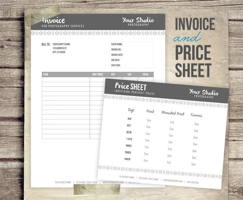 Photography Invoice Templates 9 Free Word Excel PDF Format. Invoice ...