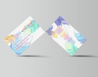 Feather Business Card - home office approved