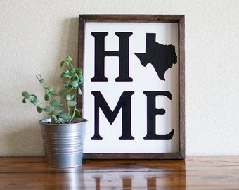 Texas gifts, Texas home decor, Texas sign, state sign