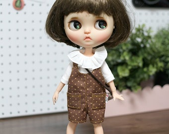 Blythe clothes /  Frilly T-shirt  outfit doll clothes for Blythe, Pure neemo