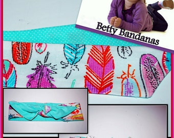 KIDS...Betty Bandana in Feather Print....New Size & Style
