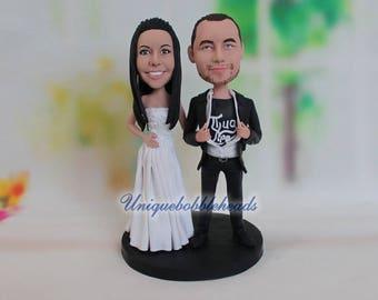 funny wedding cake topper, cake topper for wedding, unique wedding cake topper, tearing the shirt, tear the shirt, wedding gift