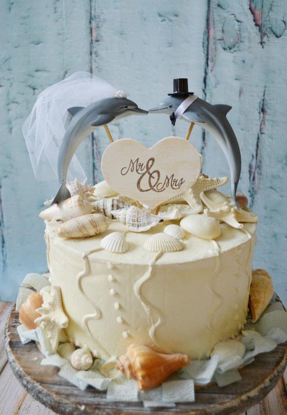 Dolphin couple wedding cake topper porpoise wedding cake junglespirit Image collections