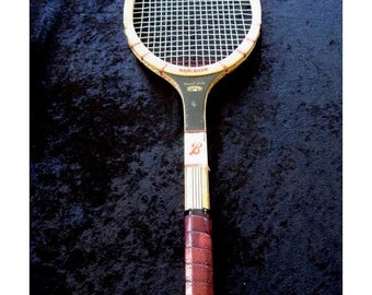 Vintage Bancroft Forest Hills Wood Tennis Racquet  Leather Grip