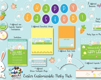 Easter Party, Easter Egg Hunt, Spring Party Printables