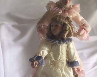 """Danbury Mint """"Mothers Loving Touch"""" Porcelain Dolls"""