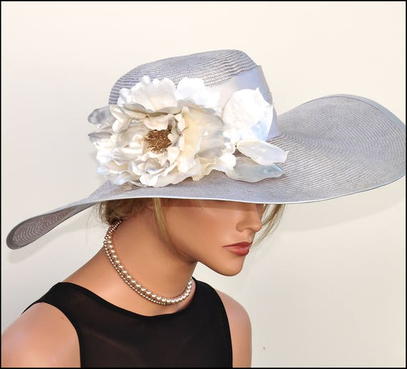 Formal Hat Gray Hat, Occasion hat, Wedding Hat, Church Hat, Ascot Hat, Kentucky Derby Hat, Mother of Bride Hat. Mother of Groom Hat,