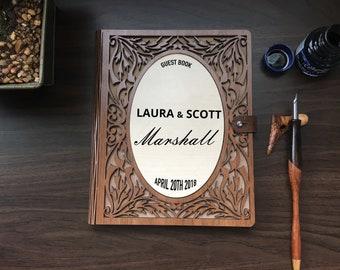 Guest Book, Wedding Guest Book, Wedding Guestbook, Unique Guestbook, Custom Guest book, Wood Guest Book, Guest book Wedding