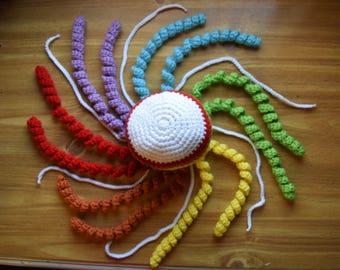 Rainbow Crochet Jellyfish Octopus Amigurumi