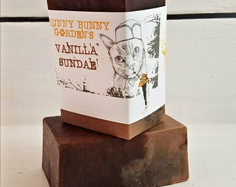 Vanilla Soap, Bulk Organic Vanilla Soap, Vanilla Sundae Soap, Chocolate Scented Soap, Soaps For Her, Unique Soap Bars, Funny Cats, Pretty