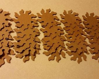 Cardboard Sunbursts - Qty 25 - 3.5 inch