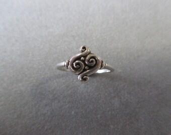 Sterling Silver Swirl Ring #R63SS