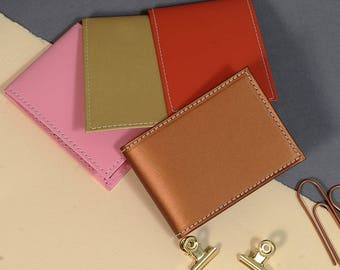 Recycled Leather Travel Card Holder