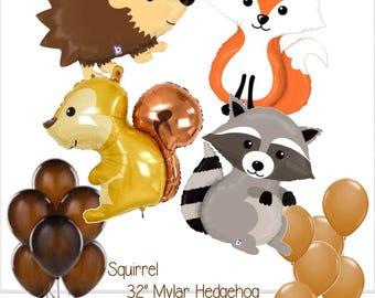 Woodland Animal Balloons - Forest Animal Balloons - Woodland Animal Decorations - Woodland Animals -  Woodland Animal Birthday