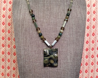 Natural gemstone one of a kind beaded necklace