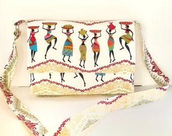 Cross body messenger bag, shoulder bag, boho chic bag, boho bag cross body, fabric messenger bag, messenger bag women, gift for her,