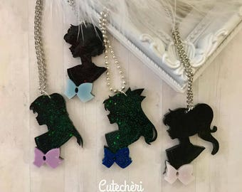Sailor Moon, Mercury, Mars, Jupiter, Venus Resin  Necklace - Collana in resina Sailor Moon