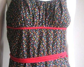 70s vintage flower dress
