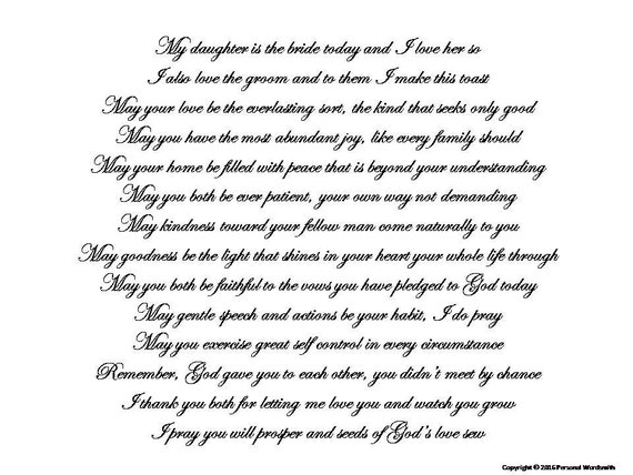 Mother Of Bride Toast Speech Download Printable Mother Of