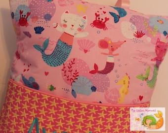 Mercats Reading Pillow // Kids Reading Pillow // Pocket Pillow // Sealife Pillow