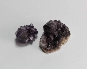 Amethyst Spirit Quartz Crystal Points, Dark Purple Cactus Quartz