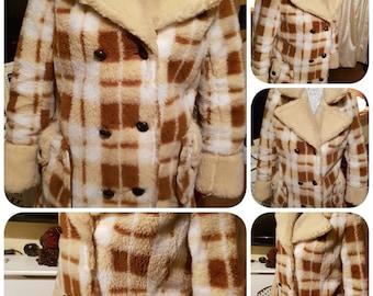 New rare vintage/retro winter wool warm jacket/coat/12/14
