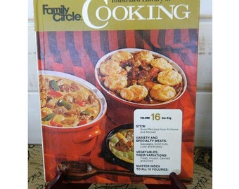 FAMILY CIRCLE Illustrated Library of COOKING -  Volume 16 - 1972 Vintage Cookbook