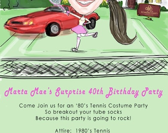 Custom Caricature Invitations