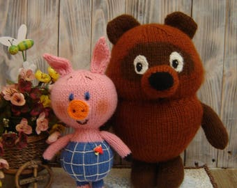 Winnie the Pooh and Piglet,soft toy Cartoon characters