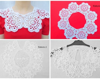 Peter Pan detachable lace collar,crochet jewelry,Victorian wedding,vintage elegant necklace,special occasion,evening dress, Valentine's gift