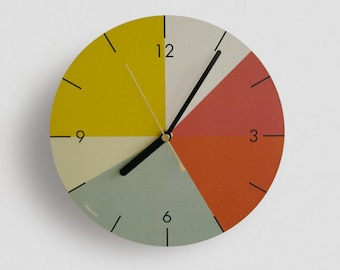 "Wall clock ""Colorful times"""
