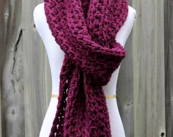 LONG WOOL SCARF, Wool knit scarf, Chunky knit scarf, Long knit scarf, 100% wool scarf, hand-knit scarf, winter wool scarf, so soft and cozy
