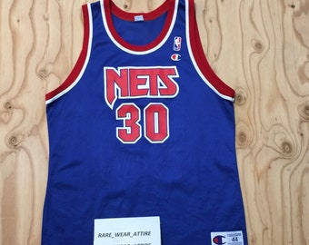 Vtg nba champion jersey new jersey nets kerry kitttles sz 44