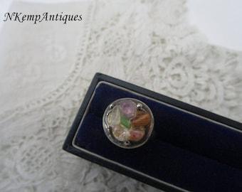 Vintage ring semi precious stones