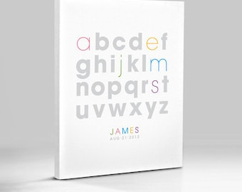 Alphabet ABC Personalized Name Wall Art Room Decor Print for Nursey or Big Kid Boy or Girl